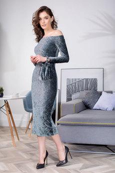 Платье с открытыми плечами RUXARA со скидкой