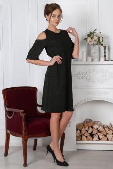 Платье с люрексом и открытыми плечами Милана